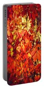 Bright Sunny Red Autumn Plants Portable Battery Charger