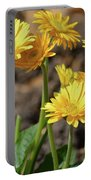 Bright Yellow Flowers  Portable Battery Charger