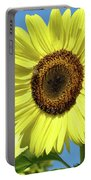 Bright Yellow Sunflower Art Prints Blue Sky Baslee Troutman Portable Battery Charger