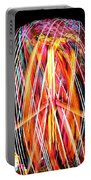 Brightly Colored Abstract Light Painting At Night From The Fireb Portable Battery Charger