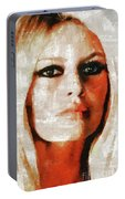 Brigitte Bardot By Mary Bassett Portable Battery Charger