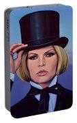Brigitte Bardot Painting 2 Portable Battery Charger