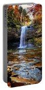 Brilliant Fall Waterfall At Cloudland Canyon Portable Battery Charger