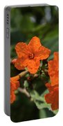 Brilliant Orange Tropical Flower Portable Battery Charger