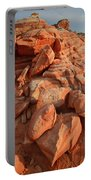 Brilliantly Colored Sandstone At Sunrise In Valley Of Fire Portable Battery Charger