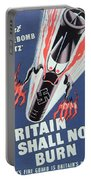 Britain Shall Not Burn Portable Battery Charger