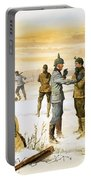 British And German Soldiers Hold A Christmas Truce During The Great War Portable Battery Charger