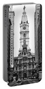 Broad Street At City Hall Portable Battery Charger