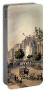 Broadway In The Nineteenth Century Portable Battery Charger by Augustus Kollner