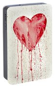 Broken Heart - Bleeding Heart Portable Battery Charger