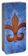 Bronze Fleur De Lis Portable Battery Charger