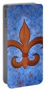 Bronze Fleur De Lis Portable Battery Charger