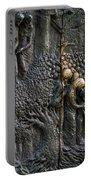 Bronze Sculptured Church Door - Slovenia Portable Battery Charger