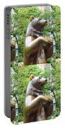 Bronze Statue Sculpture Of Bear Clapping Fineart Photography From Newyork Museum Usa Fineartamerica Portable Battery Charger