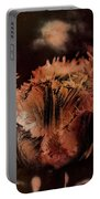 Bronze Tulip Portable Battery Charger by Richard Ricci