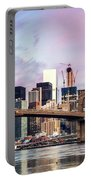 Brooklyn Bridge And Skyline At Sunrise, New York, Usa Portable Battery Charger