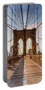 Brooklyn Bridge At Sunset, New York, Usa Portable Battery Charger