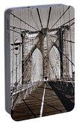 Brooklyn Bridge By Art Farrar Photographs, Ny 1930 Portable Battery Charger