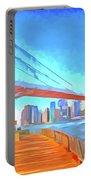 Brooklyn Bridge New York Pop Art Portable Battery Charger