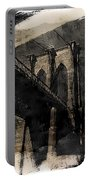 Brooklyn Bridge Reflection Abstract Portable Battery Charger