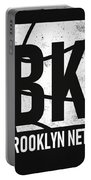 Brooklyn Nets City Poster Art Portable Battery Charger