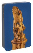 Brother 2, Carved Out Of A Dead Tree By Scott Alan Malinsky In Twin Lakes, Colorado  Portable Battery Charger