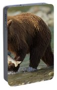 Brown Bear With Salmon Portable Battery Charger