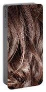 Brown Curly Hair Background Portable Battery Charger