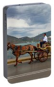 Brown Horse Drawn Carriage Portable Battery Charger