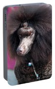 Brown Medium Poodle Portable Battery Charger