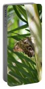 Brown Morpho Butterfly Resting On A Sunny Tree  Portable Battery Charger
