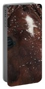 Brown Snow Horse Portable Battery Charger