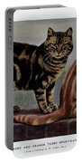 Brown Tabby And Orange Tabby Portable Battery Charger