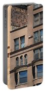 Brownstone Buildings In Chi Town Portable Battery Charger