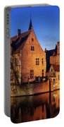 Bruges Architecture At Blue Hour Portable Battery Charger by Barry O Carroll
