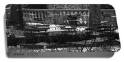 Bryant Park In Black And White Portable Battery Charger