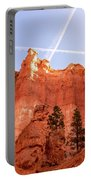 Bryce Canyon Hoodoos With Contrails Portable Battery Charger