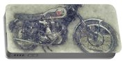 Bsa Gold Star 1 - 1938 - Motorcycle Poster - Automotive Art Portable Battery Charger