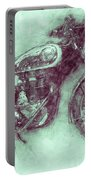 Bsa Gold Star 3 - 1938 - Motorcycle Poster - Automotive Art Portable Battery Charger