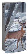 Buck In The Snow Portable Battery Charger