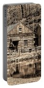 Bucks County - Cuttalossa Mill In Sepia Portable Battery Charger