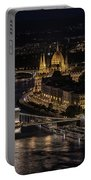 Budapest View At Night Portable Battery Charger