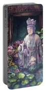 Budda Statue And Pond Portable Battery Charger