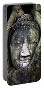 Buddha Head In Banyan Tree Portable Battery Charger