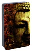 Buddha In Red Chrysanthemums Portable Battery Charger