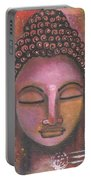 Buddha In Shades Of Purple Portable Battery Charger by Prerna Poojara