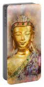 Buddha Peace Love And Light Portable Battery Charger