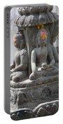 Buddha Statue At Temple - Swayambunat  Portable Battery Charger