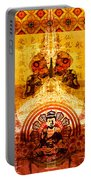 Buddha With Butterflies Portable Battery Charger