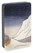 Buddhist Cleric Nichiren And Bleak Winter In Exile Portable Battery Charger